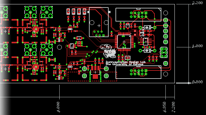 SATRA board layout on the screen