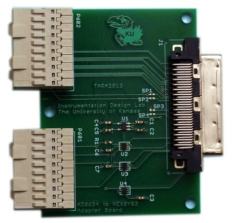Adapter between high-speed ADC and the FPGA